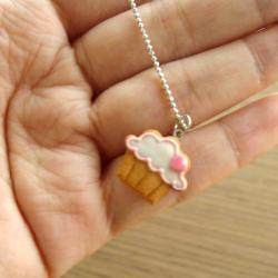 Cupcake Cookie Charm Bracelet - Pink Heart to the Right